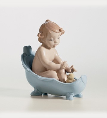 Retired Lladro Let's Take A Bath!