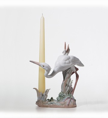 Retired Lladro Herons' Realm Candleholder (crouching) 2002-04