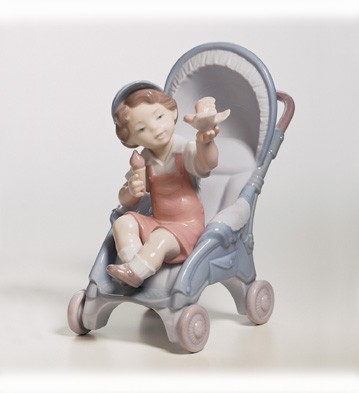 Lladro Bundle Of Surprises Porcelain Figurine