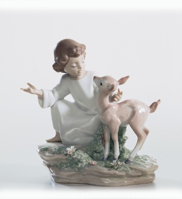 Lladro And The Little Child Shall Lead Them 2003-07 Porcelain Figurine