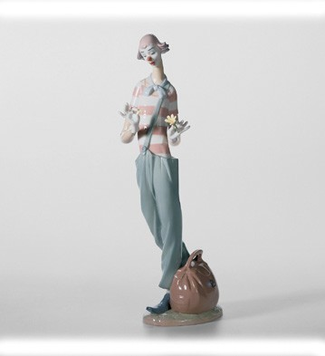 Lladro Clown In Love Porcelain Figurine