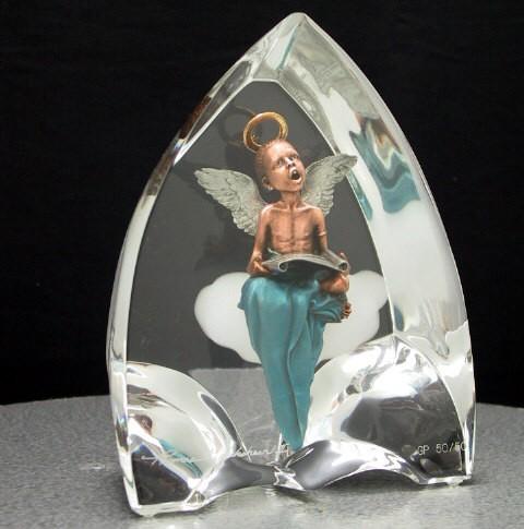 Thomas Blackshear LegendsOn Wings Of Praise Gallery Proof #46Mixed Media Sculpture