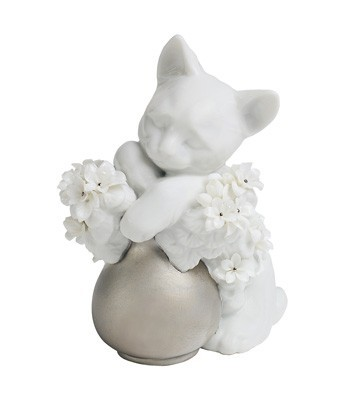 Lladro Dreamy Kitten (re-Deco) Porcelain Figurine
