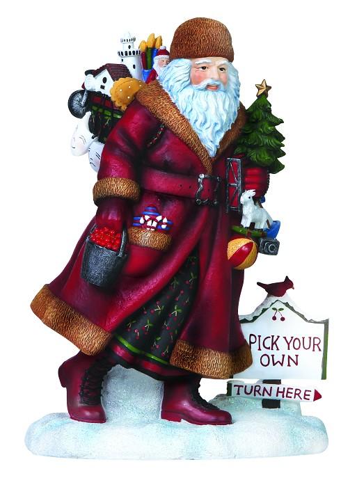 PipkaDoor County Santa Figurine