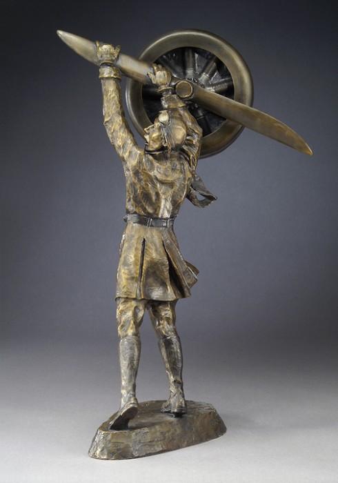 Mark HopkinsAviatorBronze Sculpture