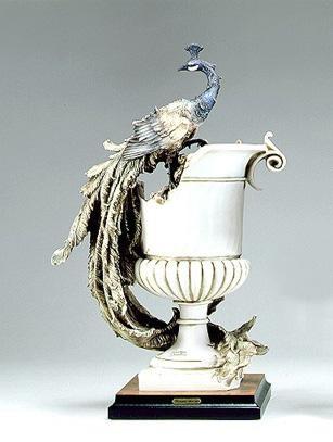 Giuseppe ArmaniVase W/peacock -  Ltd. Ed. 3000