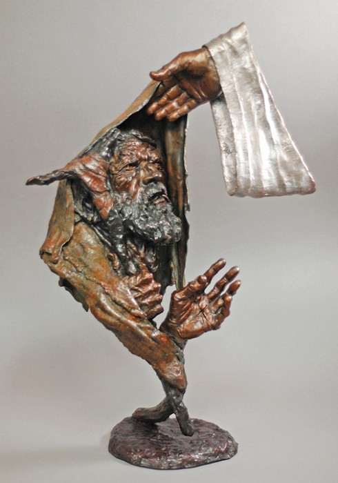 Mark Hopkins Rise and Walk Bronze Sculpture