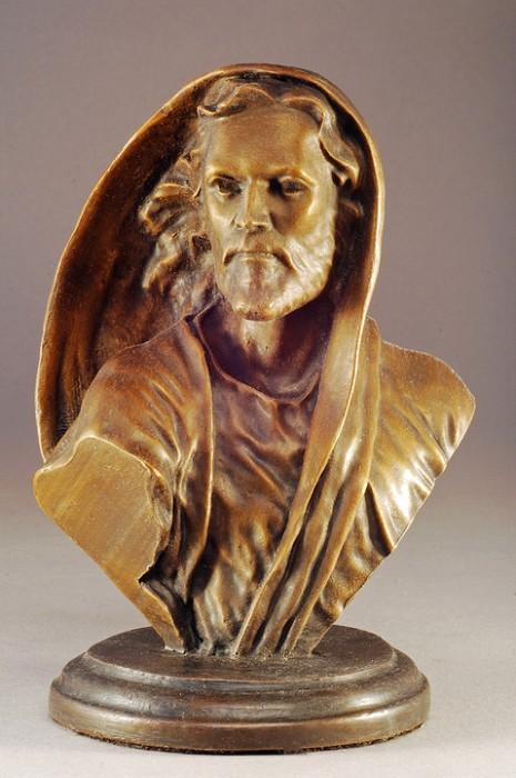 Mark HopkinsBe Not Afraid BustBronze Sculpture