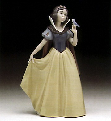 Lladro Snow White With Backstamp Porcelain Figurine