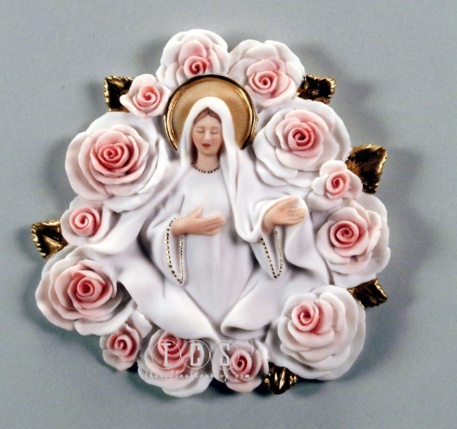 Giuseppe Armani Madonna Of The Roses - Plaque