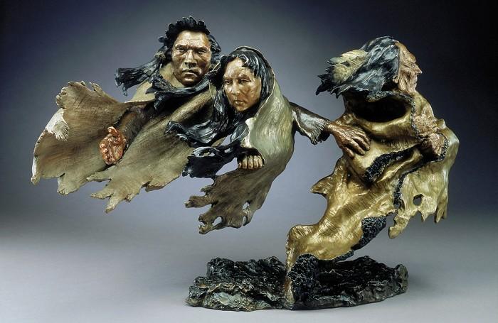 Mark HopkinsBroken TreatyBronze Sculpture