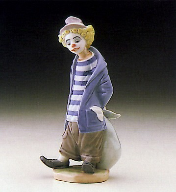 Lladro Little Traveler Porcelain Figurine