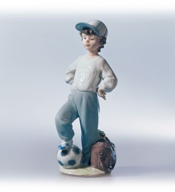 Lladro Starting Forward Porcelain Figurine