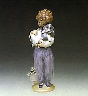 Lladro My Buddy 1989 Society Piece Porcelain Figurine