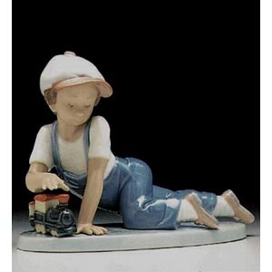Lladro All Aboard 1992 Society 1992-95 Porcelain Figurine