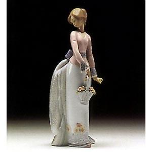 LladroBasket Of Love 1994 SocietyPorcelain Figurine