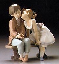 LladroTen And GrowingPorcelain Figurine