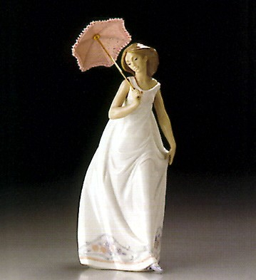 Lladro Afternoon Promenade 1995 Society Porcelain Figurine