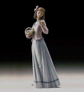 Lladro Innocence In Bloom 1996 Society Porcelain Figurine