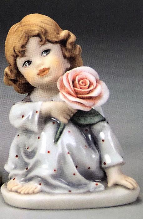 Giuseppe ArmaniSITTING GIRL WITH ROSE