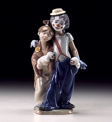 Lladro Pals Forever 2000 Millennium Society Porcelain Figurine