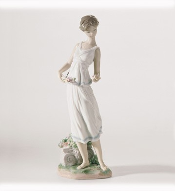 Lladro Flowers For A Goddess 2006-07 Porcelain Figurine