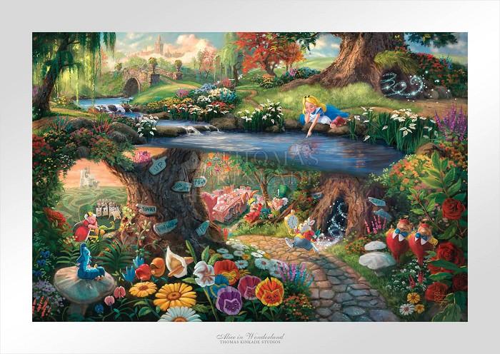 Thomas Kinkade DisneyAlice in WonderlandGiclee On Paper Artist Proof