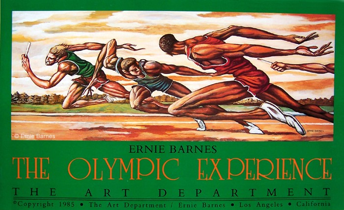 Ernie Barnes The Olympic Experience-Signed
