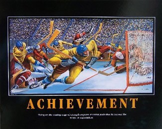 Ernie Barnes Achievement-Signed Lithograph