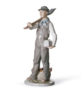 Lladro Engineer Porcelain Figurine