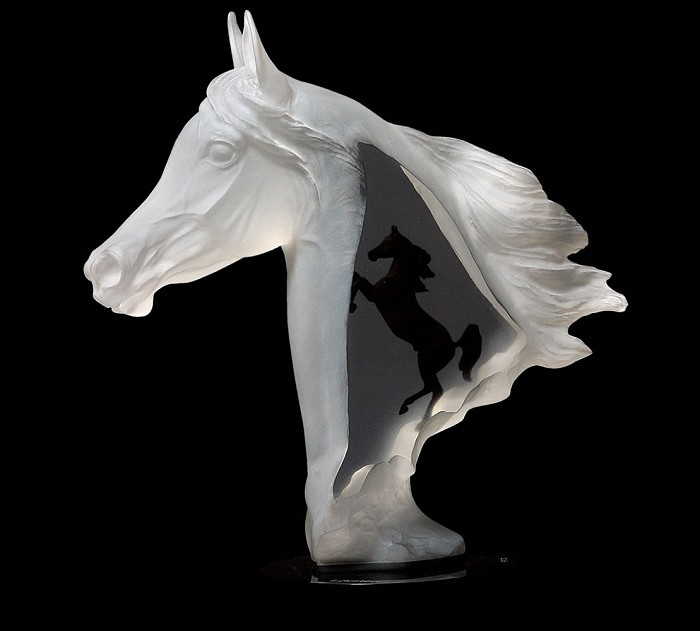 Kitty Cantrell Royal Arabian Mixed Media Sculpture