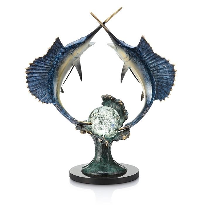SPI SculpturesUnderwater Duel - Sailfish with LED Light