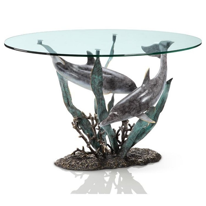 SPI Sculptures Dolphin Duet Coffee Table