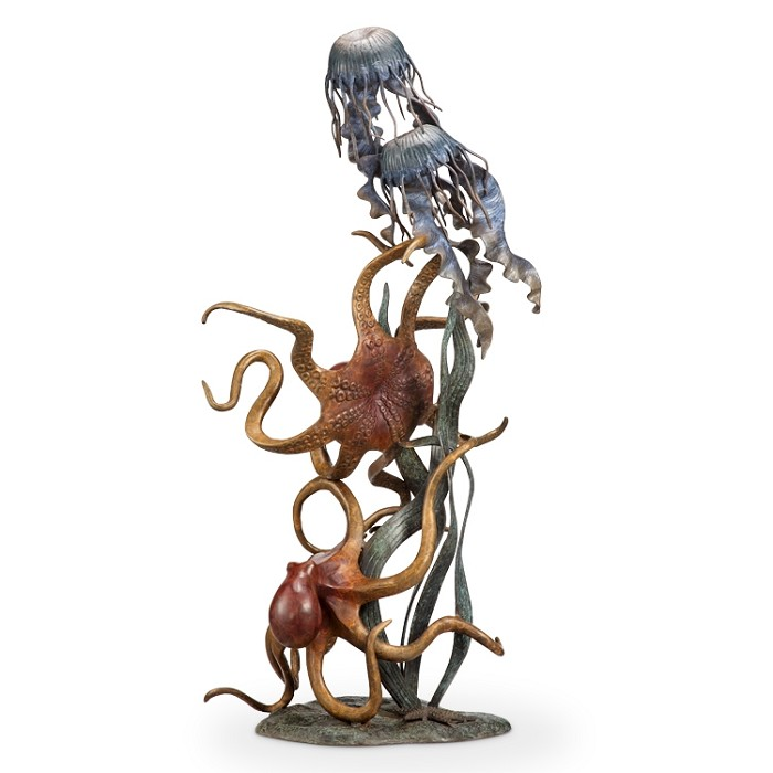 SPI Sculptures Undersea Wonders Quartet (Octopuses and Jellyfish)