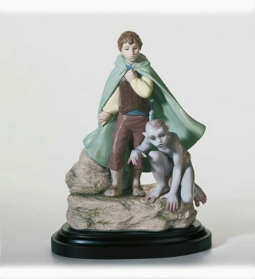 LladroFrodo & GollumPorcelain Figurine