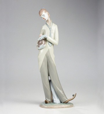 Lladro Romantic Clown Porcelain Figurine