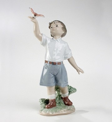 Lladro Flying Free Porcelain Figurine