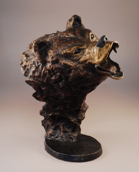 Mark Hopkins Grizzly Bronze Sculpture