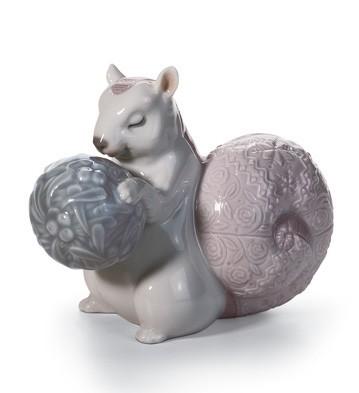 LladroFestive Squirrel IIPorcelain Figurine