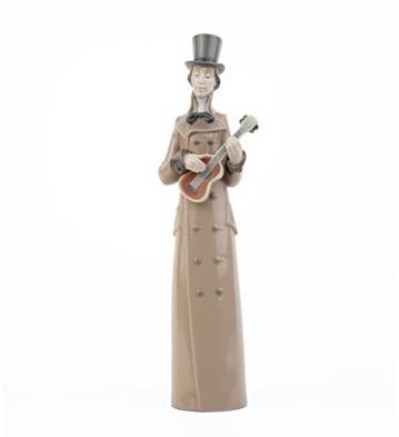 LladroMusician with GuitarPorcelain Figurine