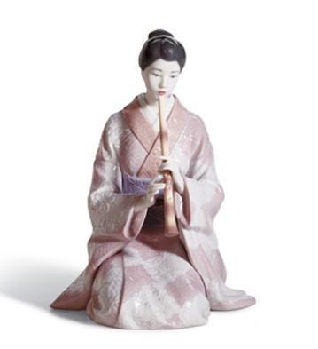 LladroShakuhachi PlayerPorcelain Figurine
