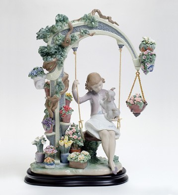 Lladro SWING INTO SPRING Porcelain Figurine