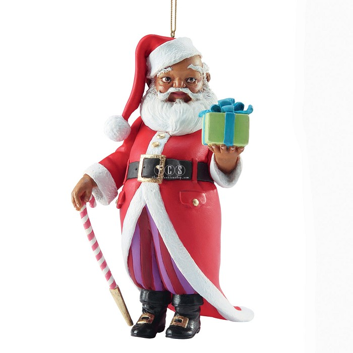 Ebony VisionsMr Claus 2013 Ornament