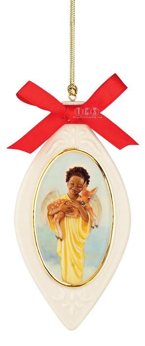 Ebony VisionsDeerly Loved Ornament Porcelain