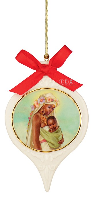 Ebony Visions The Madonna Ornament Porcelain