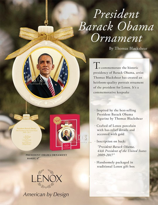 Ebony Visions President Obama Ornament