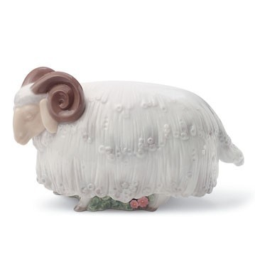 Lladro Ram In The Meadow