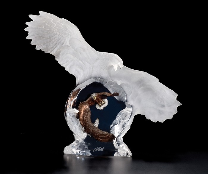 Christopher Pardell Eagle Spirit Mixed Media Sculpture