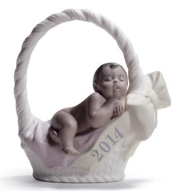 Lladro Black LegacyBORN IN 2014 (GIRL - DARK SKIN) Porcelain Figurine