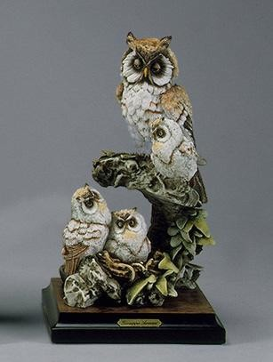 Giuseppe ArmaniOwls In Nest